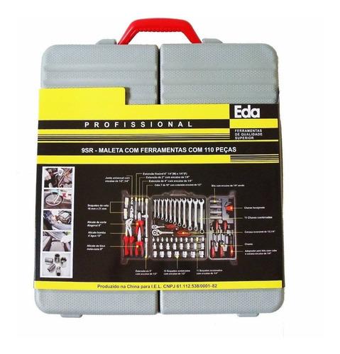 maleta de ferramentas completa em aço cr-v com 110 peças eda