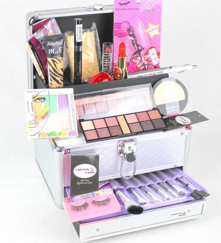 maleta de maquiagem completo prof ruby rose maletas mania