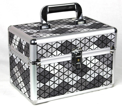 maleta de maquiagem grande profissional make up com brinde