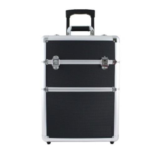 maleta de maquiagem profissional com rodinhas cor preta