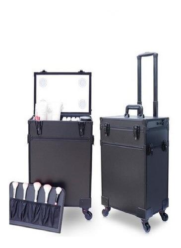 maleta de maquillaje con luz led