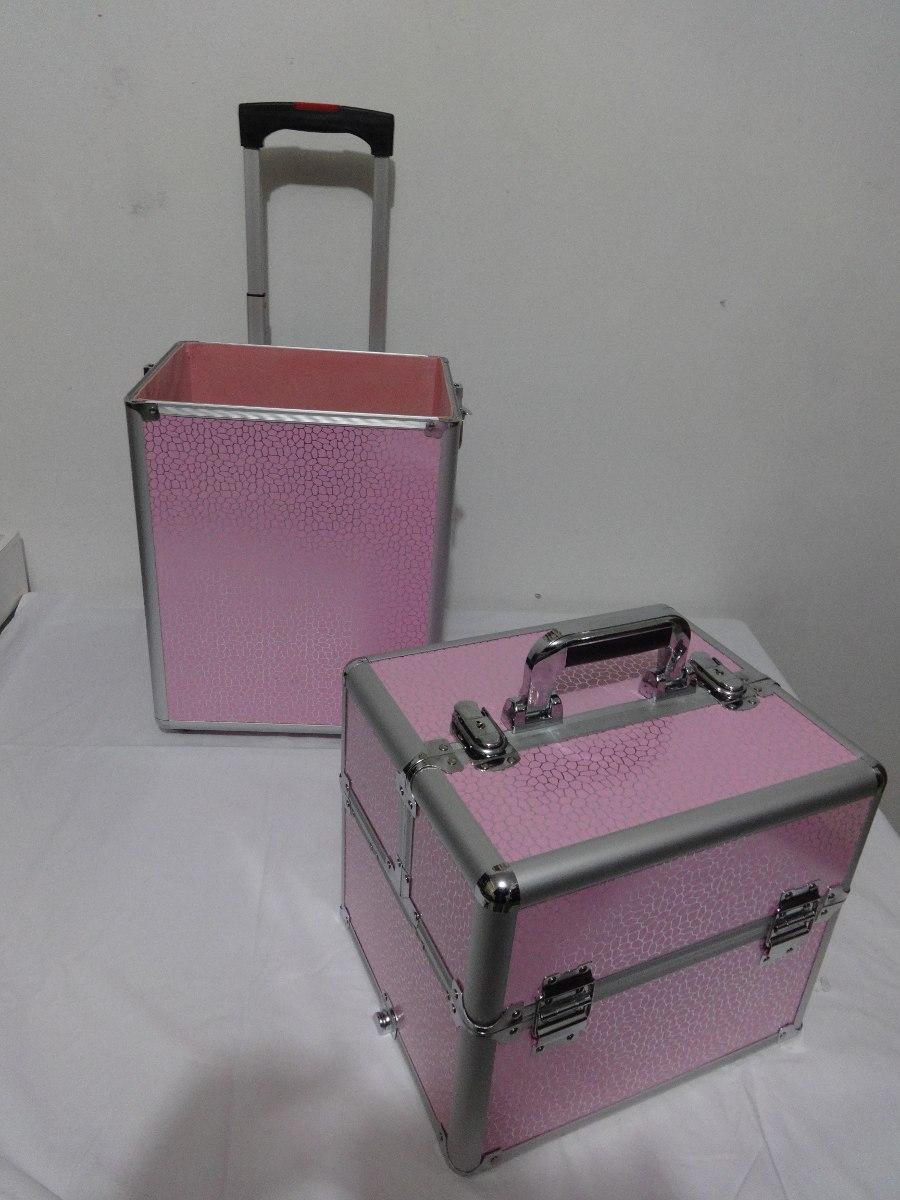 84ad1bbc8 maleta de maquillaje o peluquería con carro y ruedas grande. Cargando zoom.