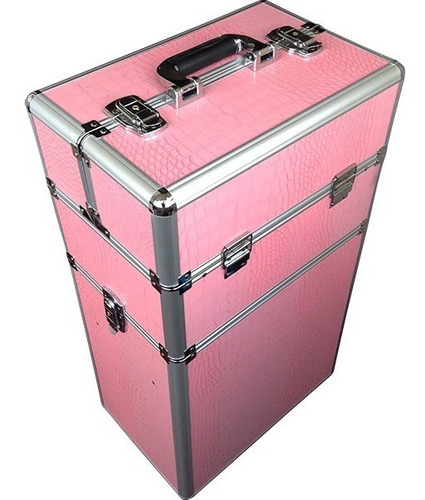 maleta de maquillaje peluquería con 4 ruedas.