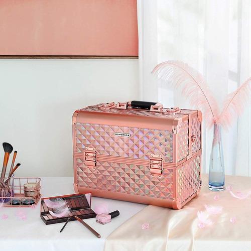 maleta de maquillaje rose gold songmics tienda física 100vrd