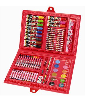 maleta de pintura lápis de colorir minnie mouse 72 itens