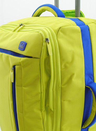 maleta de viaje benetton 43u72136-51 24  color lima