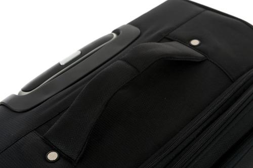 maleta de viaje con 4 ruedas juego de 3 - negra - teljn