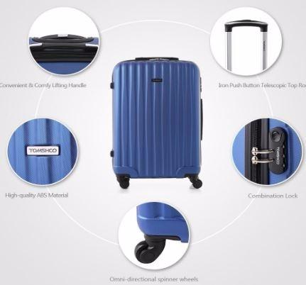 maleta de viaje con ruedas abs resistente
