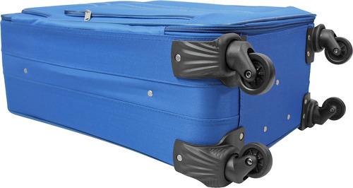 maleta de viaje grande omni 28 pulgadas azul - explora