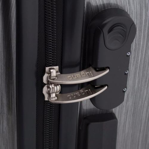 maleta de viaje lugano 7250 tonic 20'' gris plateado