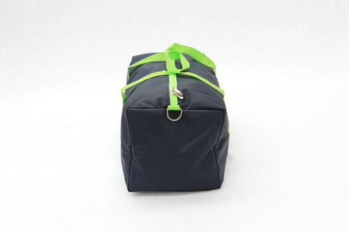maleta deportiva para gimnasio azul marino con verde