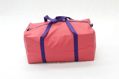 maleta deportiva para gimnasio rosa con morado