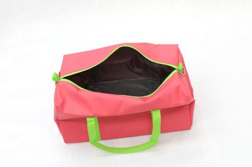 maleta deportiva para gimnasio rosa con verde
