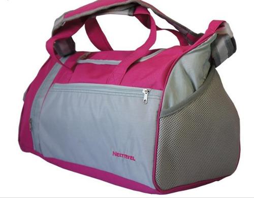 maleta deportiva rosa o azul nextravel 21 pulgadas (50cm) !!