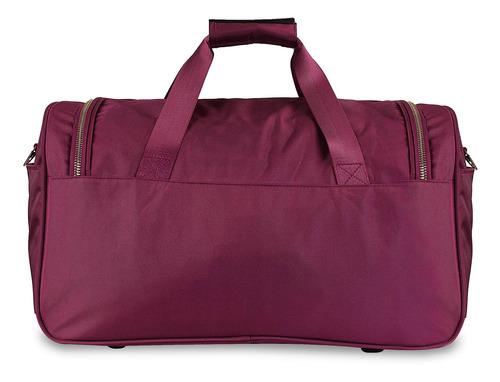 maleta duffle bag cloe con detalles en dorado unisex