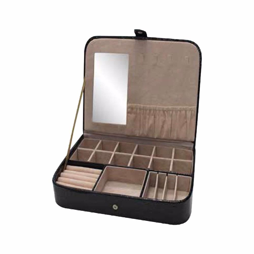 e560854c65b maleta estojo caixa porta jóia bijuteria relógio c  espelho-. Carregando  zoom.