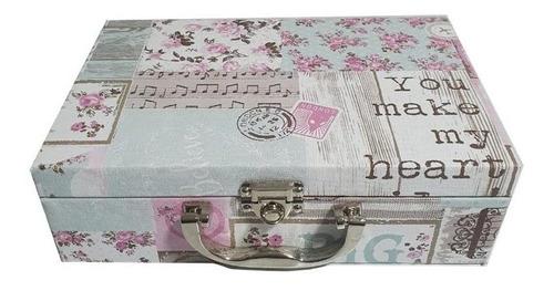 maleta estojo para porta jóias, bijuteria,dupla mdf