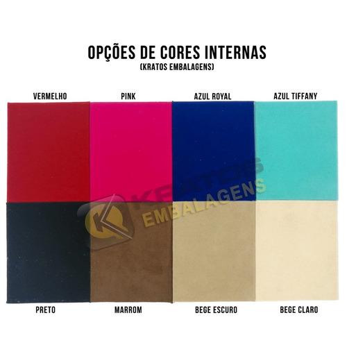 maleta  estojo porta jóias couro varias cores - grande dupla