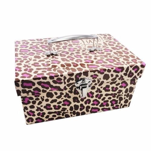 maleta estojo porta jóias grande duplo luxo uatt