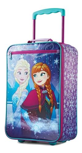 maleta frozen viaje niñas morral ruedas elsa ana disney