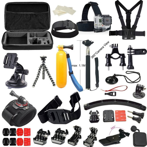 maleta gopro 24 accesorios en 1 hero 2, 3, 4