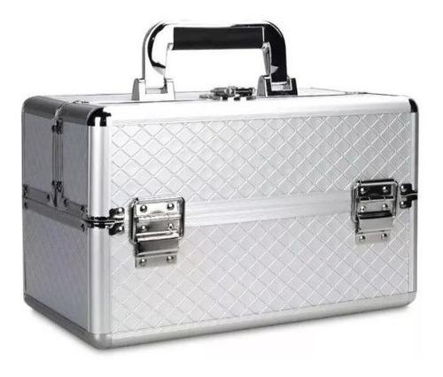 maleta grande + kit completo de maquiagem - oferta