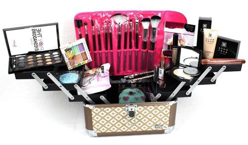maleta grande kit maquiagem completo profissional avon brind