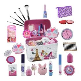 Maleta Infantil + Kit De Maquiagens De Beleza Bz66 + Brindes