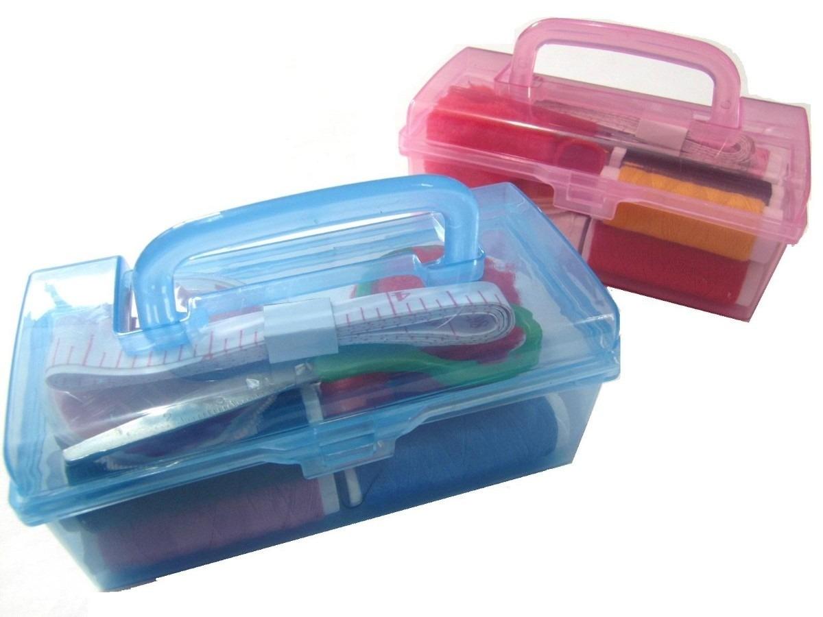 Maleta kit costura organizador de pl stico 15 tens - Organizador de bolsas de plastico ...
