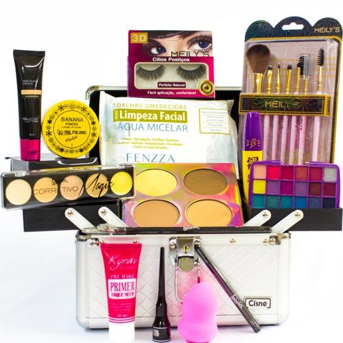 maleta kit maquiagem luisance + brinde macrilan