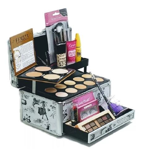 maleta kit maquiagem macrilan + colossal - super completa
