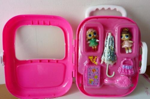 maleta lol muñeca + accesorios