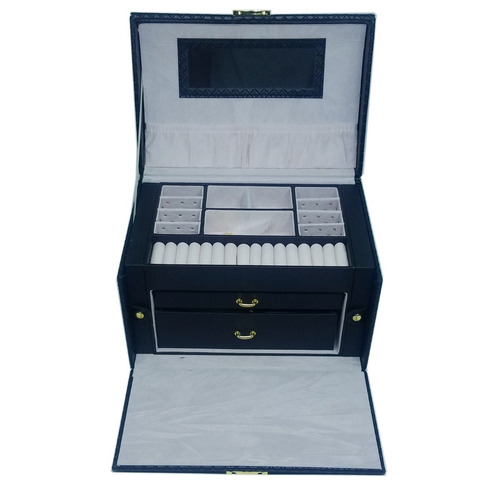 maleta luxo estojo caixa porta jóias bijuterias relógio - pr