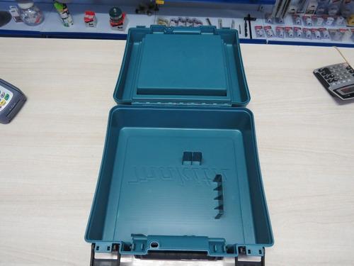 maleta makita com tampa guarda acessórios para furadeiras