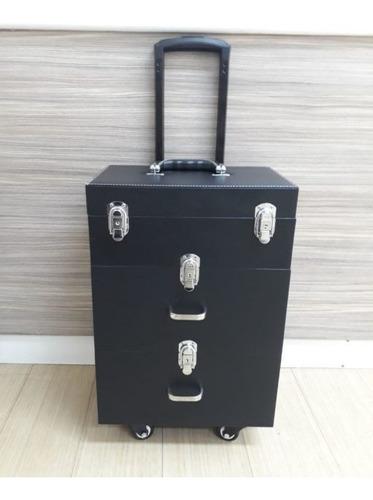 maleta manicure maquillaje o peluqueria / carro y cajoneras