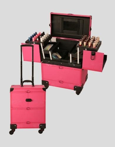 maleta manicure maquillaje peluqueria / litchi con carro