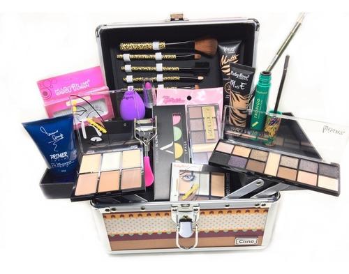 maleta maquiagem completo profissional + ruby rose + vult