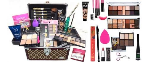 maleta maquiagem profissional  + delineador e pó translucido