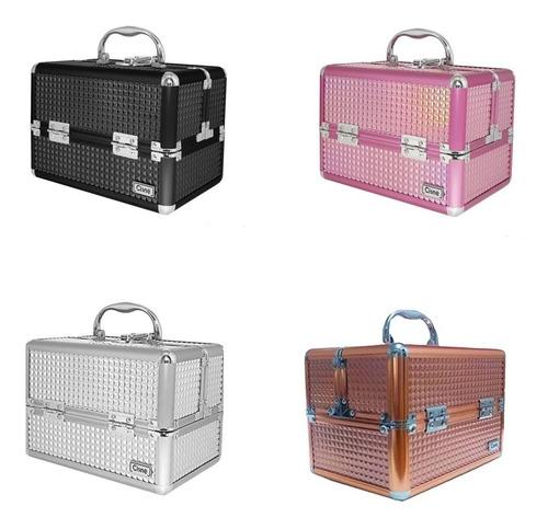 maleta maquiagem profissional organizador vazia ruby caixa