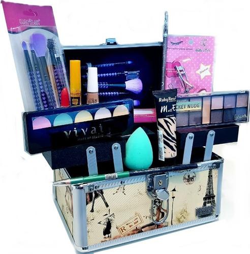 maleta maquiagem profissional + ruby rose/avon/vult