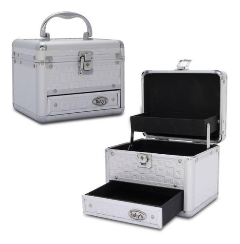 maleta maquiagem profissional vazia com gaveta p/ maquiadora