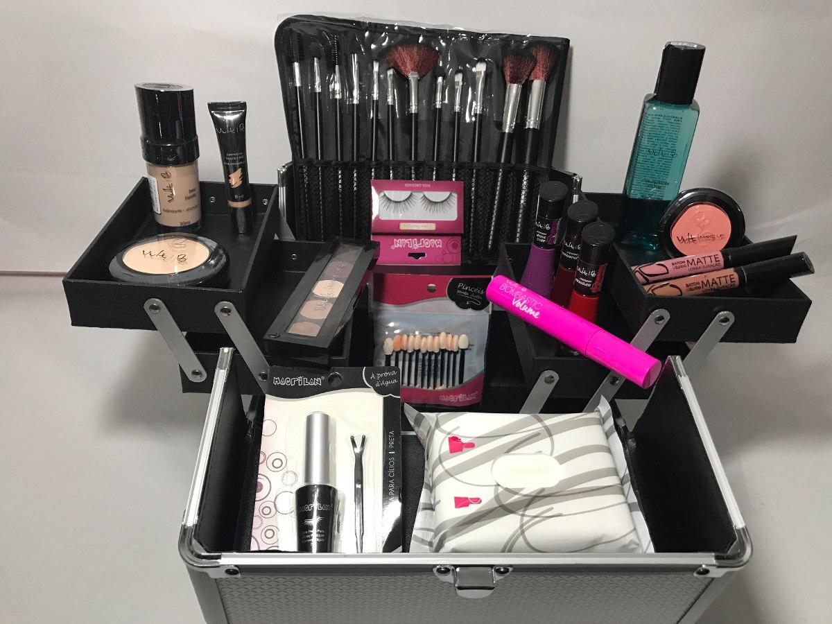 Kit Maquiagem Sombra Base Matte Lápis Rímel Pó Compacto | Mercado Livre