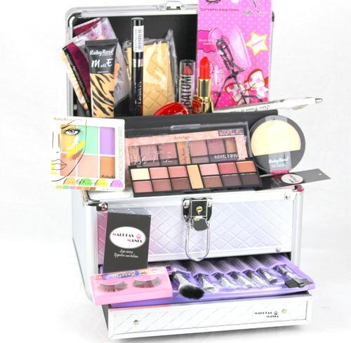 maleta maquiagem ruby rose maletas