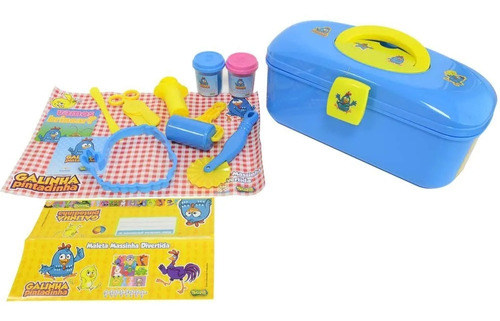 maleta massinha divertida - galinha pintadinha sunny  359
