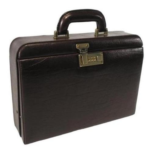 maleta médica couro bennesh 1011 café bolsa