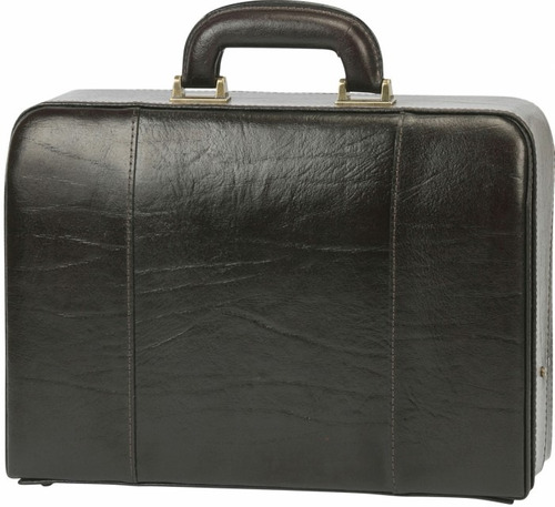 maleta médica couro bennesh 1011 preto bolsa