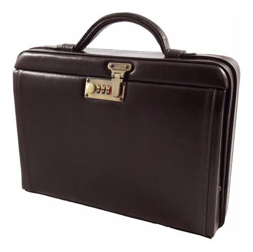 maleta médica couro executiva bennesh 2011 café