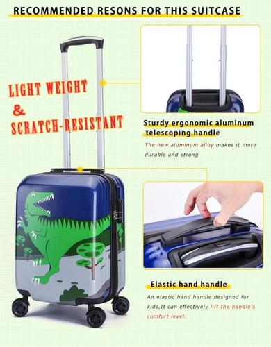 maleta mochila viaje color azul dinosaurio niños de lttxin