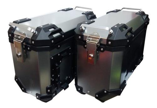 maleta moto laterales  rex v39 aluminio 74 lts.