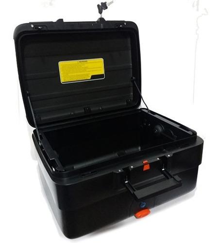 maleta moto top case e69x neg silver 40 lts expandible c/res